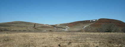 Panorama hilly terrain Royalty Free Stock Photos
