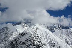 Panorama of the Hils, Les Deux Alpes, France, French Royalty Free Stock Photography
