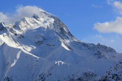 Panorama of the Hils, Les Deux Alpes, France, French Stock Image