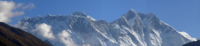 Panorama of Himalaya Royalty Free Stock Photos