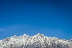 Panorama of Himalaya mountains Stock Photo