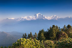 Panorama of Himalaya mountains Stock Photos