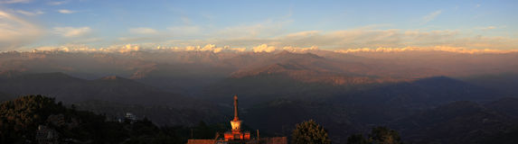 Panorama Of The Himalaya Mountains Range Royalty Free Stock Image