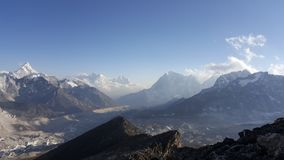 panorama himalaya range Royalty Free Stock Photo