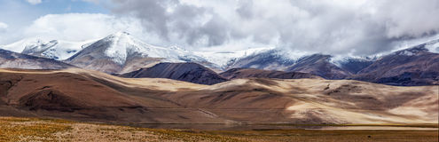 Panorama of Himalayan lake  in Himalayas Stock Photography