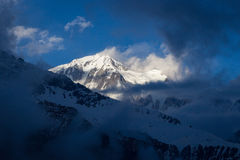 Panorama of the Himalayas in Nepal spring Royalty Free Stock Image