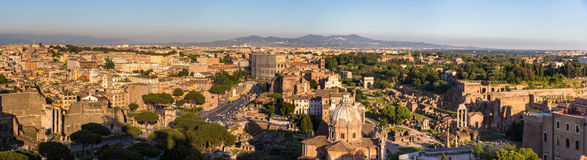 Panorama of historic center of Rome, Italy Royalty Free Stock Photography