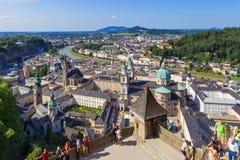 Panorama of the historic city of Salzburg Stock Photo
