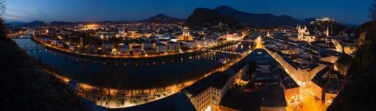 Panorama of historic city of Salzburg, Austria Stock Photography