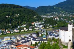 Panorama of the historic city of Salzburg Royalty Free Stock Photography