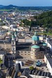 Panorama of the historic city of Salzburg Stock Photography
