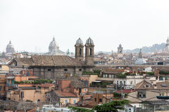 The panorama of historic districts of Rome Stock Photos