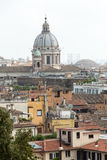 The panorama of historic districts of Rome Royalty Free Stock Photos