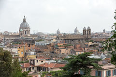 The panorama of historic districts of Rome Stock Photo