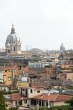 Panorama of historic districts of Rome seen from the Pincio terrace Stock Images