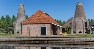 Panorama of the historic lime kiln in the center of Hasselt. Holland royalty free stock image