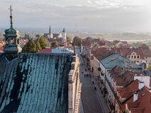 Panorama of the historic old town Sandomierz Royalty Free Stock Images
