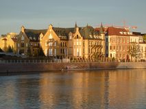 Panorama of the historic part of the old town `Ostrow Tumski`, Wroclaw Stock Photo