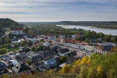 Panorama of the historic town Kazimierz Dolny in Poland Stock Images