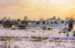 Panorama of the historic town of Russia - Suzdal Stock Photography