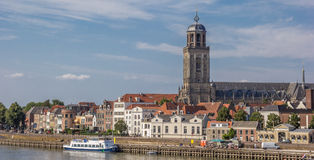 Panorama of the historical center of Deventer Stock Photos