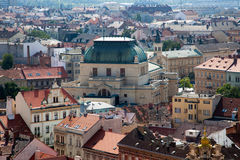 Panorama of historical center of Plzen Royalty Free Stock Image