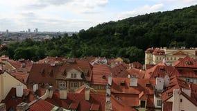 Panorama of historical center of Prague Stock Photos