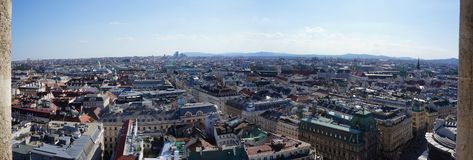 Panorama of the historical center of Vienna royalty free stock photo