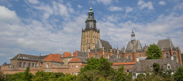 Panorama of the historical center of Zutphen Stock Photos