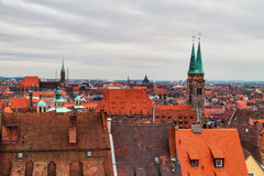 Panorama of the historical City of Nuremberg Royalty Free Stock Image