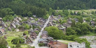 Historical village Shirakawa-go, Japan stock images