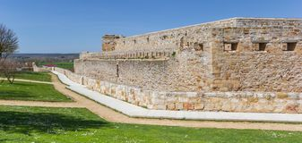 Panorama historyczny kasztel w Zamora zdjęcia stock