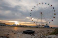 panorama- hjul Arkivbilder