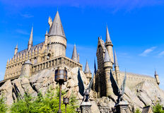 Panorama of The Hogwarts School of Harry Potter. The Hogwarts School of Harry Potter in Universal Studios, Osaka, Japan.One of the famous spot for the tourists Stock Images