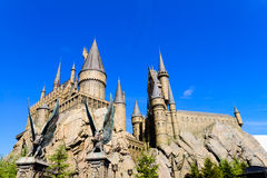 Panorama of The Hogwarts School of Harry Potter Stock Photography