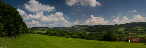 Panorama of the Hoherodskopf peak, Vogelsberg Royalty Free Stock Images
