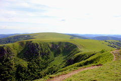 Panorama of the hohneck in the vosges mountain Royalty Free Stock Images