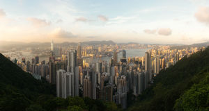 Panorama of Hong Kong Royalty Free Stock Photo