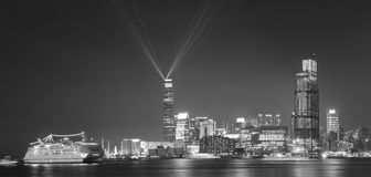 Panorama of Hong Kong city Royalty Free Stock Image