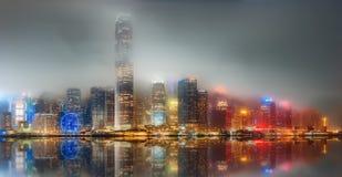 Panorama of Hong Kong and Financial district Royalty Free Stock Photo