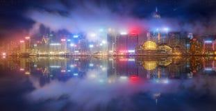 Panorama of Hong Kong and Financial district Royalty Free Stock Image