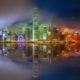 Panorama of Hong Kong and Financial district Royalty Free Stock Photography