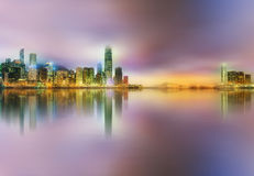 Panorama of Hong Kong and Financial district Stock Photography