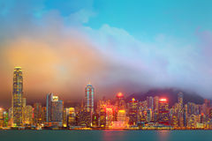 Panorama of Hong Kong and Financial district Stock Photos