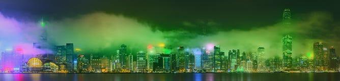 Panorama of Hong Kong and Financial district Stock Photos