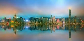 Panorama of Hong Kong and Financial district Royalty Free Stock Photos