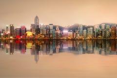 Panorama Hong Kong i Pieniężny okręg Zdjęcie Royalty Free