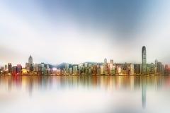 Panorama Hong Kong i Pieniężny okręg obraz stock