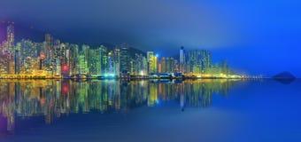 Panorama Hong Kong i Pieniężny okręg Fotografia Royalty Free