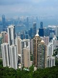 Panorama of Hong Kong royalty free stock images